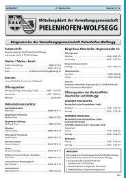 PIELENHOFEN-WOLFSEGG - Landkreis Regensburg