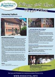 Neues aus dem Rodachtal-Ausgabe 1-2011.pub - Das Rodachtal