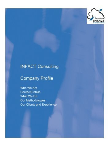 INFACT Consulting Company Profile 2011