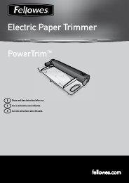 Powertrim Manual - Fellowes