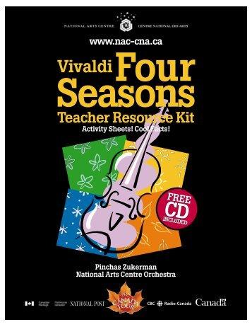 Four Seasons Teacher Resource Kit - ArtsAlive.ca