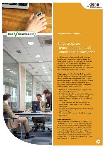 Intensiv - beim Biogasregister Deutschland!