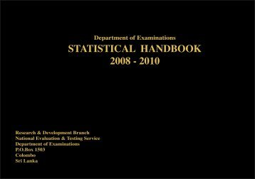 statistical handbook 2008 - 2010 - Department of Examinations - Sri ...
