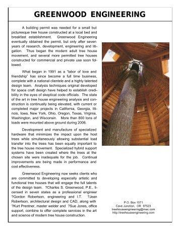 GREENWOOD ENGINEERING - Treehouse Engineering