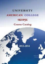 UACS Course Catalog 2012-2013 - University American College ...