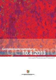 Rechnung 2012 - Gemeinde Wollerau