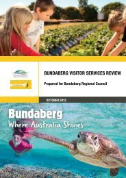 bundaberg visitor services review - Bundaberg Regional Council