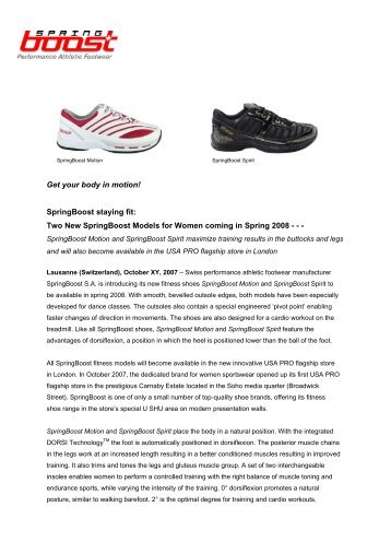 Get your body in motion! SpringBoost staying fit: Two New ...