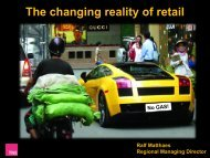 The changing reality of retail - CBRE