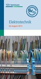 Elektrotechnik - TÜV Saarland Bildung + Consulting GmbH