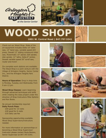 Woodshop - Village of Arlington Heights