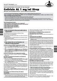 Cetirizin AL 1 mg/ml Sirup - Aliud Pharma GmbH & Co. KG