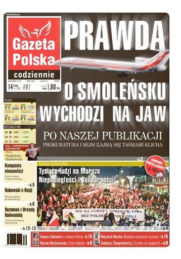 PO NASZEJ PUBLIKACJI - Gazeta Polska Codziennie