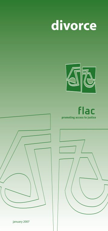 divorce - FLAC (Free Legal Advice Centres)