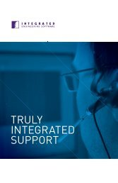 Download our technical support info brochure - INTEGRATED ...