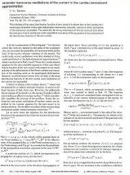 Isoscalar transverse oscillations of the current in the Landau zero ...