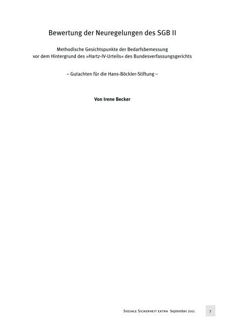 Gutachten von Dr. Irene Becker - Bund-Verlag GmbH
