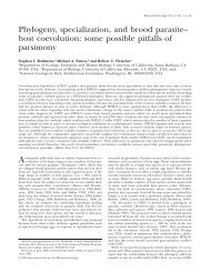 Phylogeny, specialization, and brood parasite– host coevolution ...