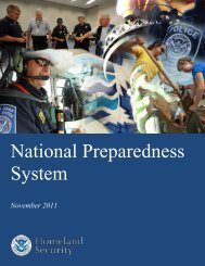 National Preparedness System - Federal Emergency Management ...