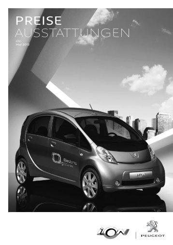 Peugeot ION Preisliste - Wiesenthal