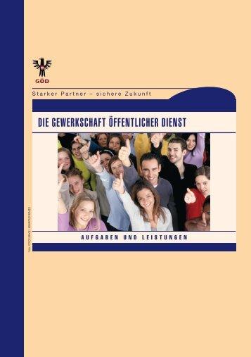 Broschüre Aufgaben-Leistungen - Bundesheergewerkschaft