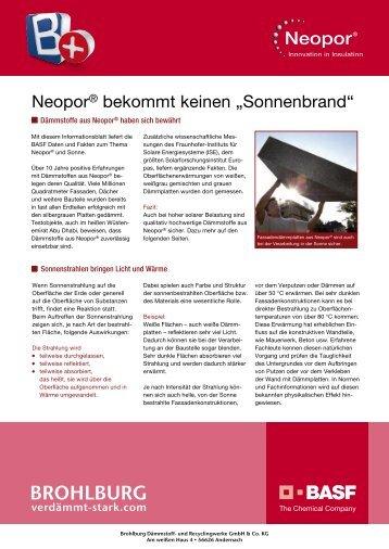 """Neopor® bekommt keinen """"Sonnenbrand"""" - brohlburg"""