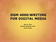 DGM 4000:WRITING FOR DIGITAL MEDIA