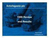 Full year results 1999 - Antofagasta plc