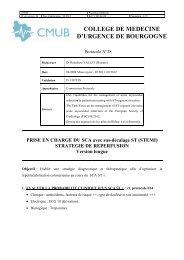PEC du SCA STEMI stratégie de reperfusion version longue - CMUB