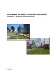 Mainstreaming innovations in urban water management - Leven met ...