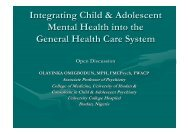 Integrating Child & Adolescent Mental Health into the ... - Cittadinanza