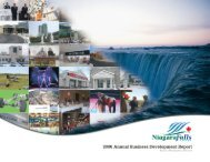 2006 Business Development Report - Niagara Falls, Ontario, Canada