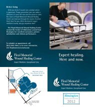 Wound Healing Center Brochure - Floyd Memorial Hospital