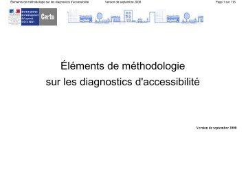 Éléments de méthodologie sur les diagnostics d'accessibilité - cfpsaa