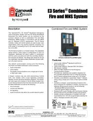 E3 Series® Combined Fire and MNS System - Gamewell-FCI