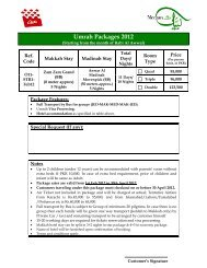 Umrah Packages 2012 - Meezan Bank