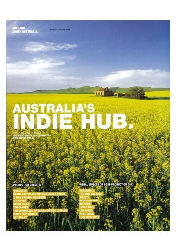 Australia's Indie Hub - South Australian Film Corporation
