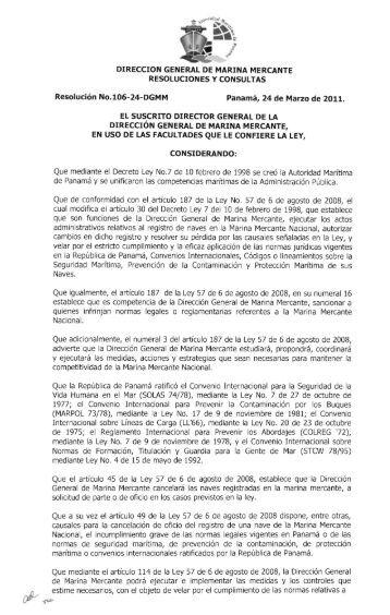 DIRECCION GENERAL DE MARINA MERCANTE ... - VeriSTAR