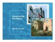 Dennis Lenard, Constructing Excellence