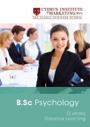 B.Sc. Psychology Leaflet - The Cyprus Institute of Marketing