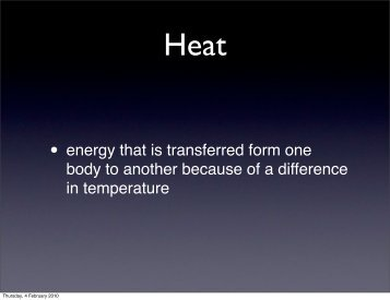 mechanical equivalent of heat slides