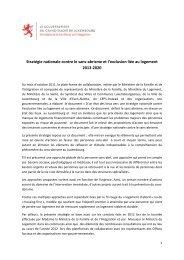 Stratégie nationale contre le sans-abrisme et l'exclusion ... - Feantsa