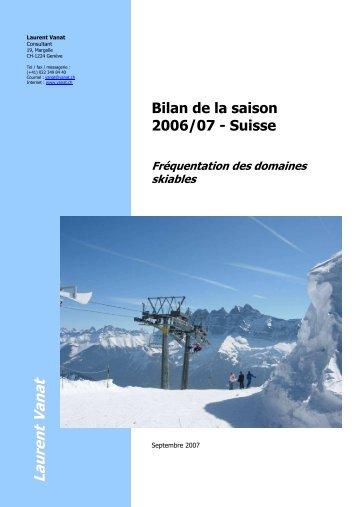 Suisse, Fréquentation des domaines skiables ... - Laurent Vanat