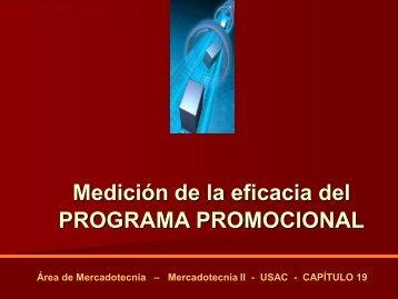 Medición de la eficacia del PROGRAMA PROMOCIONAL - Rescate ...