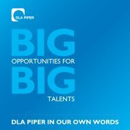 opportunities for talents - DLA Piper UK Graduate Recruitment