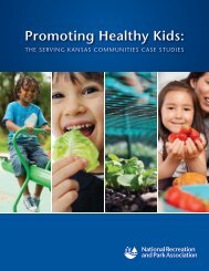 Promoting Healthy Kids: - National Recreation and Park Association