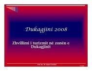 1. Zhvillimi i Turizmit dhe agroturizmit ne zonen e Dukagjinit - ëëë ...