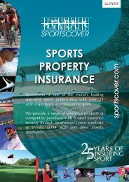 Download Sports Property Insurance Brochure - Sportscover