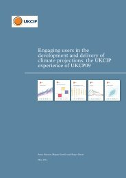 Engaging users in the development and delivery of climate - ukcip
