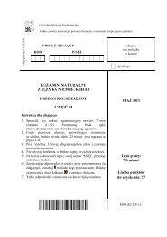 EGZAMIN MATURALNY Z JĘZYKA NIEMIECKIEGO ... - dlaStudenta.pl